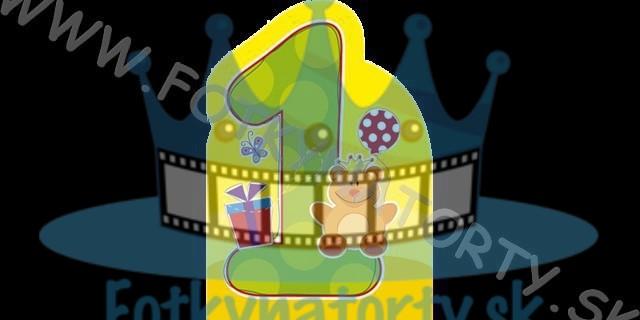 Oblátka na tortu - 1 rok Jedlý obrázok prvé narodeniny, číslo 1 na tortu / Fotky na torty / jedlé obrázky / jedlá tlač