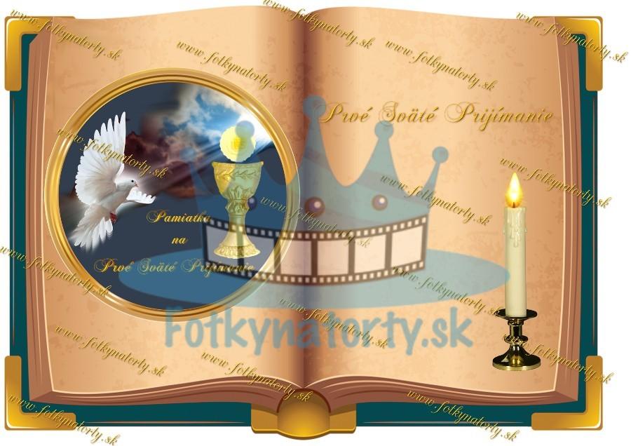 Prvé Sväté prijímanie - kniha  - jedlý obrázok/ oblátka na tortu