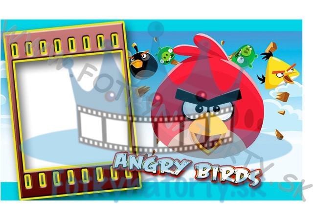Angry Birds Fotorámik - jedlý obrázok/ oblátka na tortu / Fotky na torty