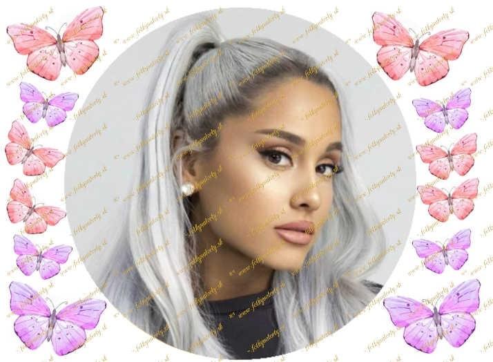 Jedlý okrúhly obrázok na tortu - Ariana Grande