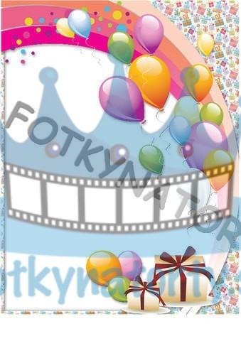 Narodeninová oslava - Fotorámik - jedlý obrázok/ oblátka na tortu / Fotky na Torty