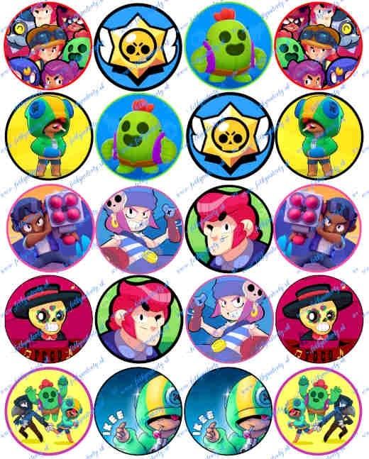 Jedlé obrázky Brawl Stars na muffiny