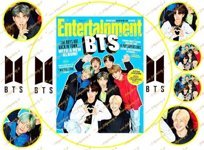 Jedlý obrázok na tortu Hudobná skupina BTS - kruh