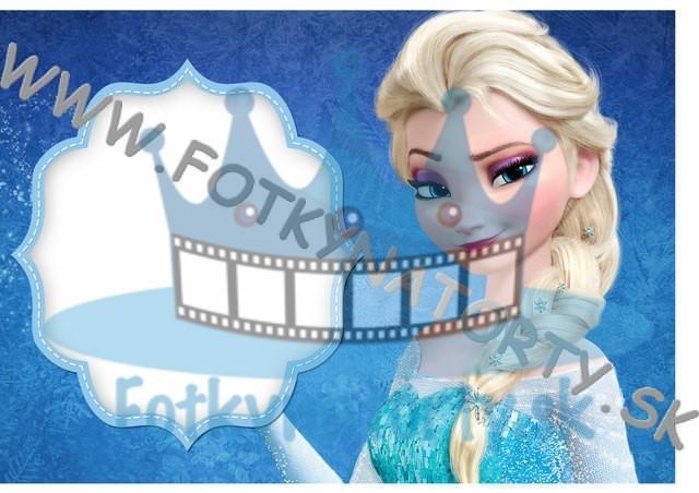 FROZEN ľadové kráľovstvo Elsa Fotorámik - jedlý obrázok/ oblátka na tortu / Fotky na torty