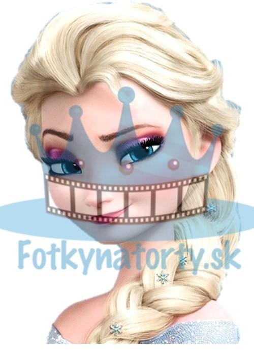 FROZEN - Ľadová Kráľovná Elsa - jedlý obrázok/ oblátka na tortu / Fotky na torty
