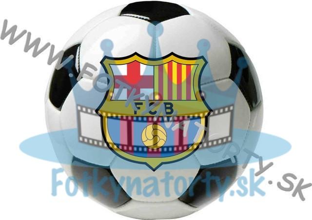 FCB logo vo futbalovej lopte - kruh - jedlý obrázok/ oblátka na tortu / Fotky na tortu