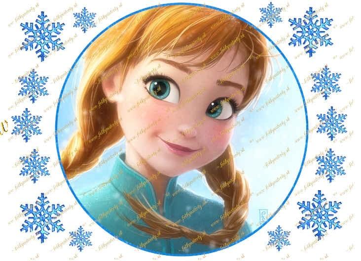 Princezná Anna jedlý obrázok na tortu kruh