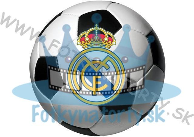 Logo FC Real Madrid lopta okrúhly jedlý obrázok/ oblátka na tortu / Fotky na tortu