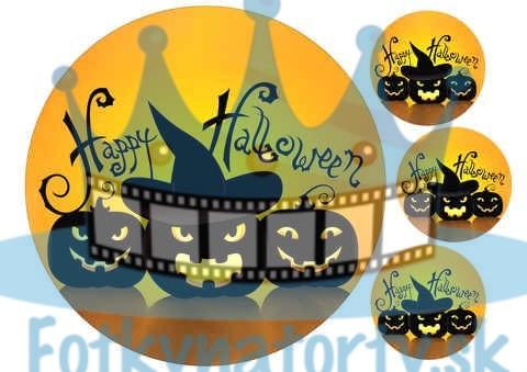 Happy Halloween jedlý obrázok / oblátka na tortu