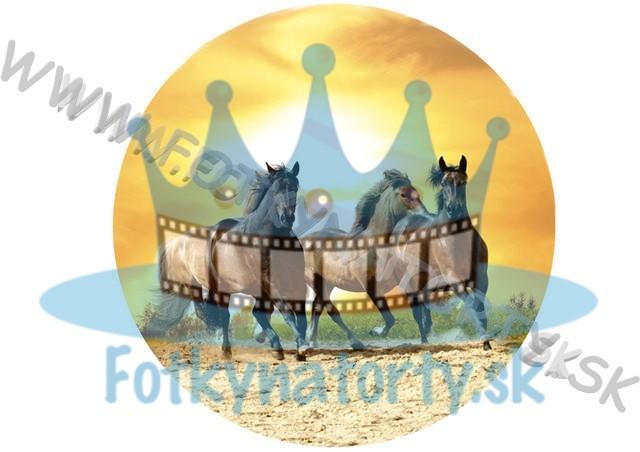 Kone so západom slnka - jedlý obrázok/ oblátka na tortu / Fotky na torty
