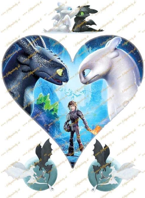 Jedlý obrázok How to Train your dragon / Ako vycvičiť draka 3 - srdce