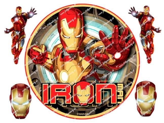 Obrázok na tortu Ironman Avengers
