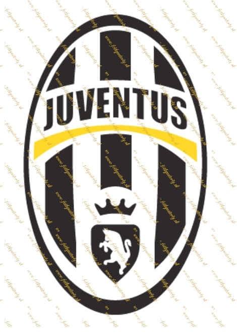 Juventus logo - jedlý obrázok/ oblátka na tortu