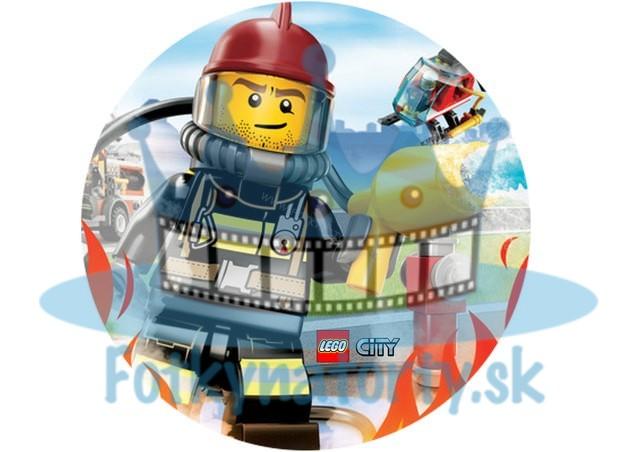 Lego City Požiarnici KRUH - jedlý obrázok / oblátka na tortu / Fotky na Torty