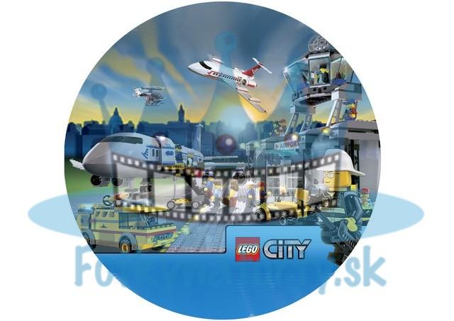 Lego City Lietadlá KRUH - jedlý obrázok / oblátka na tortu / Fotky na torty