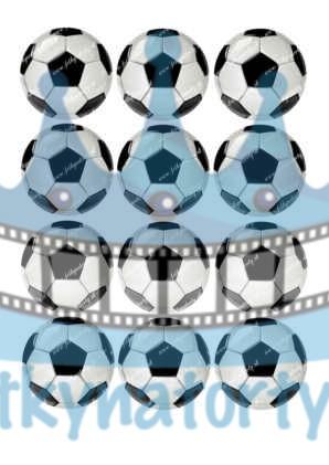 Futbalové lopty 12 ks - Ø cca 6 cm