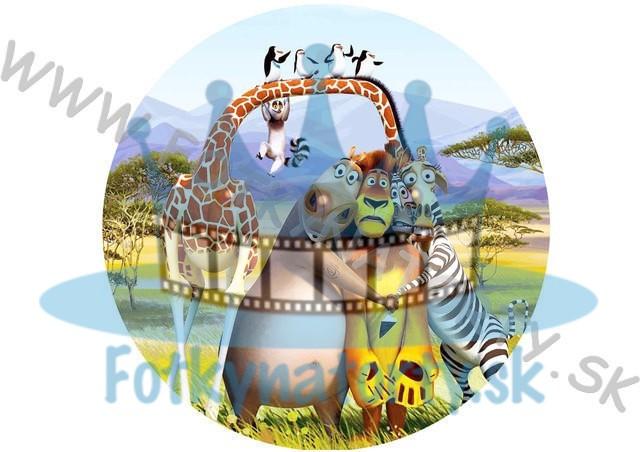 Madagaskar - jedlý obrázok/ oblátka na tortu / Fotky na Torty