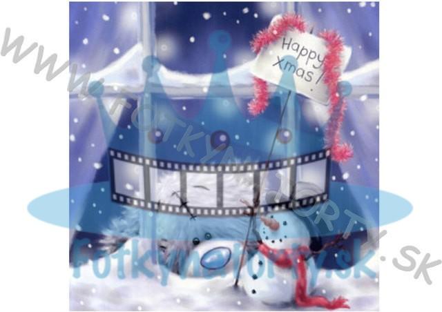 Medvedíci Me to you - Vianočná oblátka na tortu V. - jedlý obrázok
