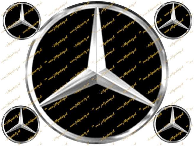 Mercedes Benz logo - jedlý obrázok na tortu