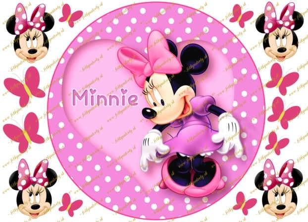 Minnie Mouse jedlý obrázok na tortu