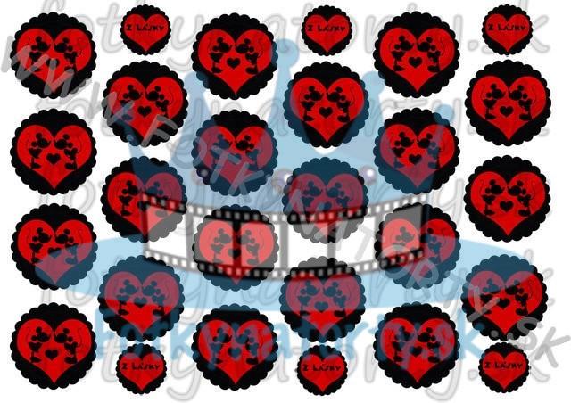 Mickey & Minnie na muffiny - 21 ks - jedlé obrázky na zákusky, medovníčky a iné dobrôtky / na tortu / jedlé tortové obrázky / Fotky na Torty