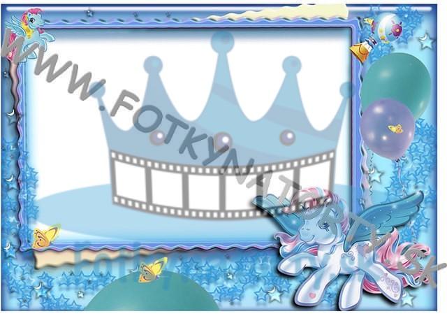My Little Pony Fotorámik - jedlý obrázok/ oblátka na tortu / fotky na torty