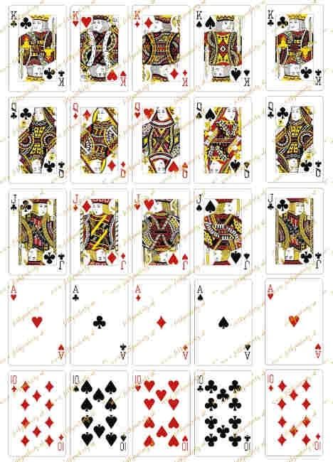 Jedlý obrázok - POKER karty na vystrihovanie (25kusov)