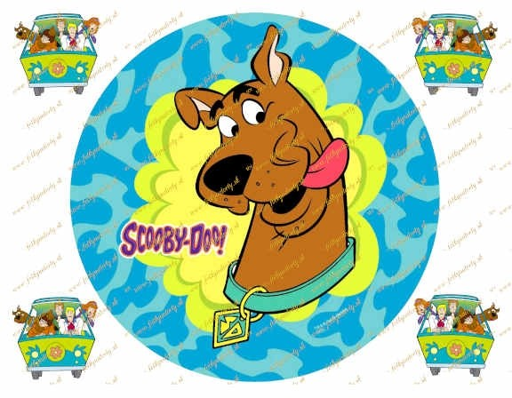 Scooby Doo na tortu kruh