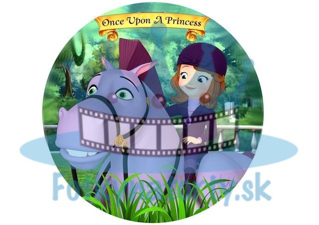Princezná Sofia na koni - jedlá tortová oblátka / na tortu / jedlý tortový obrázok/ Fotky na torty