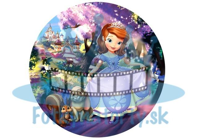 Princezná Sofia jedlá oblátka kruh / obrázok na tortu / Fotky na torty