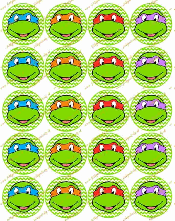 Turtles korytnačky 20 ks Ø 5 cm