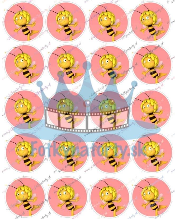 Jedlé obrázky Včieka Maja na cupcakes 20 ks - Ø cca 5 cm