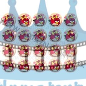 Angry Birds Stella na muffiny - 20 ks - jedlé obrázky na zákusky, medovníčky a iné dobrôtky