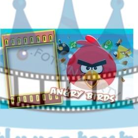Angry Birds Fotorámik - jedlý obrázok/ oblátka na tortu