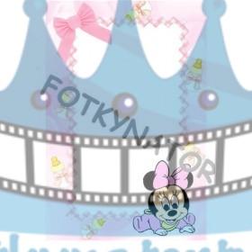 Baby Minnie Fotorámik - jedlý obrázok/ oblátka na tortu