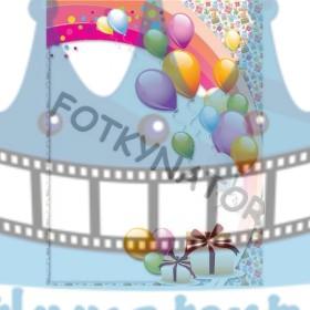 Narodeninová oslava - Fotorámik - jedlý obrázok/ oblátka na tortu