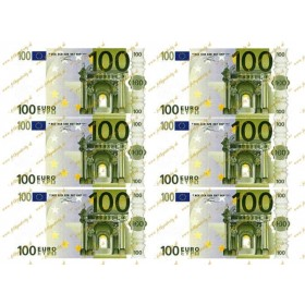 Jedlé peniaze 100 eurobankovky