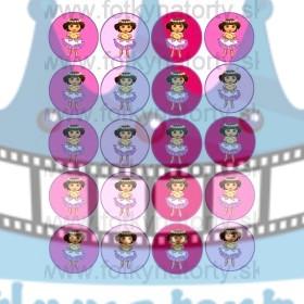 DORA na muffiny - 20 ks - jedlé obrázky na zákusky, medovníčky a iné dobrôtky