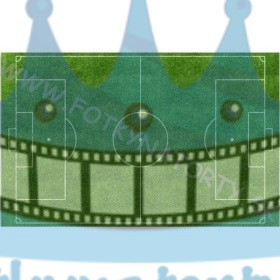 Futbalové ihrisko - jedlý obrázok / oblátka na tortu