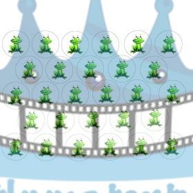 Žabky na muffiny - 28 ks - jedlé obrázky na zákusky, medovníčky a iné dobrôtky