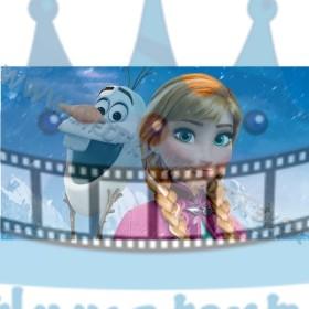 FROZEN - Ľadové kráľovstvo - Anna a Olaf - jedlá tortová oblátka