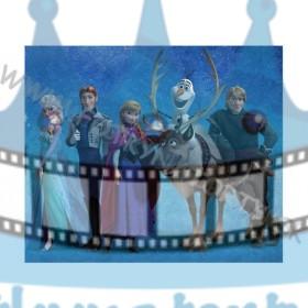 FROZEN - Ľadové kráľovstvo - jedlý obrázok / oblátka na tortu
