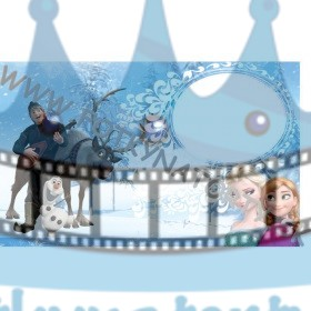 FROZEN - Ľadové Kráľovstvo Fotorámik - jedlý obrázok/ oblátka na tortu