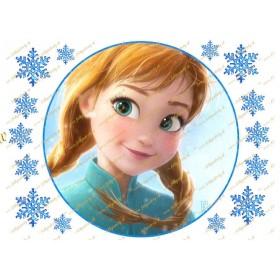 Jedlý obrázok na tortu Frozen / Ľadové kráľovstvo princezná Anna
