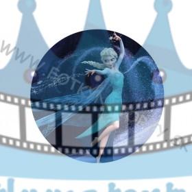 FROZEN - Ľadová Kráľovná Elsa - jedlý obrázok/ oblátka na tortu