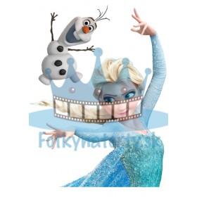 FROZEN - Elsa a Olaf - ľadové kráľovstvo - jedlá tortová oblátka na vystrihnutie