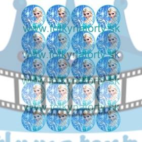 FROZEN - Ľadové kráľovstvo Elsa na muffiny - 20 ks - jedlé obrázky na zákusky, medovníčky a iné dobrôtky