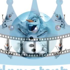 FROZEN - Snehuliak Olaf  Ľadové Kráľovstvo - jedlý obrázok/ oblátka na tortu