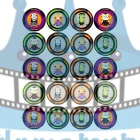 Mimoni / Minions Halloween na muffiny- 20 ks - jedlé dekorácie na zákusky, medovníčky a iné dobrôtky