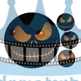 Halloween - Strašidlo - jedlý obrázok / oblátka na tortu